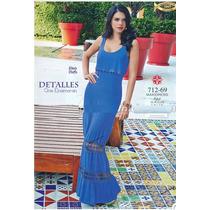 Maxi Vestido Cklass Azul Rey Primavera Verano 2015 Nuevo