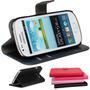 Case Carteira Capa Couro Galaxy S3 Core Duos G3502 +pelicula