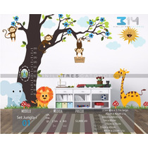 Vinilo Decorativo Arbol Set Jungla 01. Calcomanía De Pared.