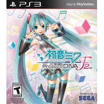 Hatsune Miku Project Diva F 2nd Ps3 Novo Lacrado