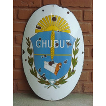 Antiguo Escudo Enlozado Original De Provincia Del Chubut