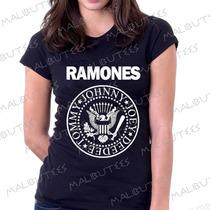 Baby Look Camiseta Ramones Personalizado Blusa Feminina