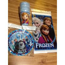 Frozen 30 Platos Y 30 Vasos Para Fiesta Intantil