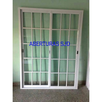 Puerta Balcon 150x200 Vidrio Repartido Corrediza