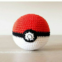 Pokebola Tejida Al Crochet