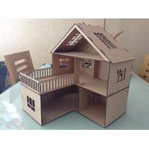 Casa Para Muñecas L En Madera Mdf Corte Laser!!! Economica