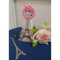 Llaveros Torre Eiffel, Con Caja Y Tarjeta Personalizada