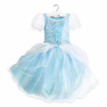 Disfraz Vestido Cenicienta Deluxe Disney Store Usa Original