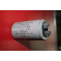 Capacitor 53 - 64mfd 220 V.ac 30b0363 Slv Cat No.gk-86
