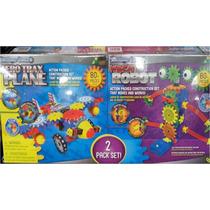 Armable Lego Niños Kit Robotica 2 Pack Aeroplano + Robot
