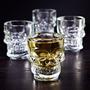 Kit 4 Copos Shot Head Caveira Whisky Pronta Entrega