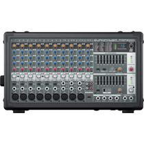 Mesa De Som Behringer Pmp2000 Mixer Amplificado Estereo