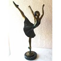 Lrc Bailarina De Ballet, Escultura Artística De Bronce.