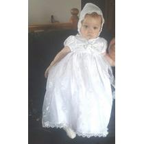 Vestido Batizado Mandrião Luxo Daminha Com Touca
