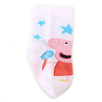 Meia Soquete Infantil Peppa Pig - 19 Ao 23 - Branco M