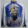 Camisa Iron Maiden Manga Longa Ciclismo Tamanhos Especiais