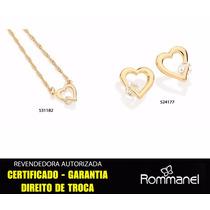 Conjunto Gargantilha 531182 + Brinco 524177 Rommanel