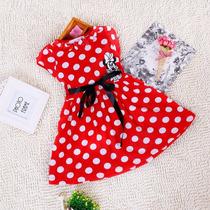 Hermoso Vestido De Niña Minnie Mimi Mouse Rojo Con Bolitas