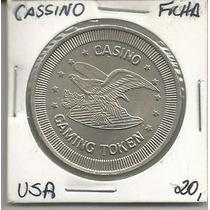 Ficha Cassino Paraguay Niquel Grande 37mm