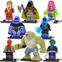 Set Raven Robin Jason Beetle Killer Croc Compatible Con Lego