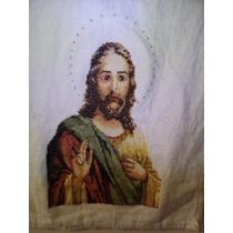 Bordado Sagrado Corazón De Jesús Punto De Cruz