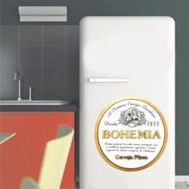 Adesivo Parede Cozinha Geladeira Cerveja Logo Bohemia Pilsen