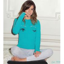 Lody Pijama Invierno Jersey Remera Estampa Ropa Interior Pao