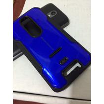 Nuevo Case Moto X Force + Mica Rigido +tpu I-glow Azul Iglow