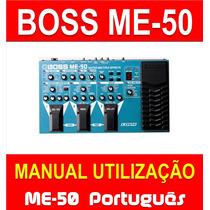 Manual Boss Me-50 Em Português - Envio Imediato Pdf