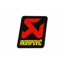 Adesivo Akrapovic Aluminio Replica 9 X 7,5 Cm