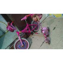 Bicicleta Y Patín Barbie Para Niñas De 5 A 10 Años