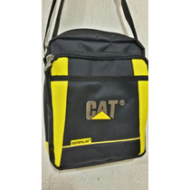 Carriel Bolso Caterpillar Cat En Malla
