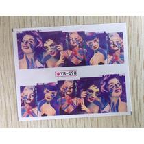 Exclusivos Stickers De Uñas Al Agua Divas Hollywood Marilyn