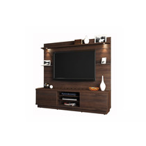 Estante Home Theater Linea Brasil Chicago Chocolate