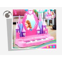 Castillo De Princesas Para Niñas Con Piano Y Espejo D Verdad