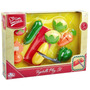 Comida Para Jugar Set - 9pc Pequeña Gourmet Vegetal Papel N