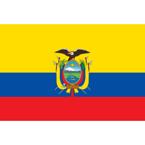 Bandera De Ecuador Y Del Mundo, 150x90cm. Envío Inmediato.