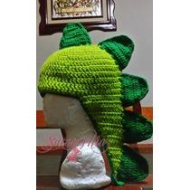 Gorros Gorritos Tejidos, Dinosaurio Con Cola Adultos