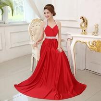 Lindo Vestido Em Cetim Com Paite Otimo Festa Noite Casamento