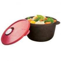 Tupperware Cristalware 2l Zen Preto E Vermelho