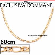 Corrente Masculina Fio Alternado Banho Ouro Rommanel 530094