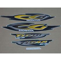 Kit Adesivos Honda Cg Titan 125 Es 2001 Verde Perolizado
