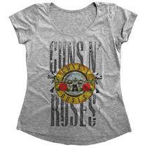 Blusinha T-shirt Feminina Personalizada Guns N Roses Swag