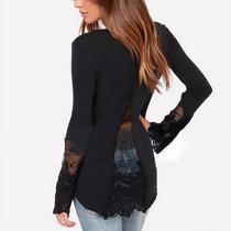 Remera Pullover Sweter Camisa Vestido Negro Moda Sexy Jeans