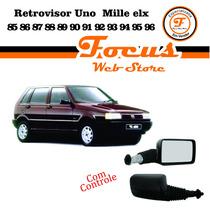Retrovisor Externo Uno Mille Elx 85/96 C Controle Manual Par