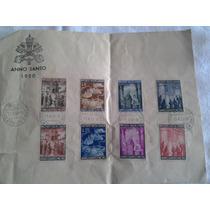 Colección 8 Estampillas Del Vaticano 1950