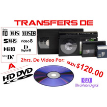 Digitalización Hd Cintas Beta, Vhs, 8mm, Minidv A Disco Dvd