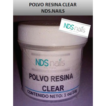 1/4 Oz Polvo Resina Clear Rosa Nds Nails