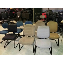 Cadeira De Escritório Giratória Ou Fixa Vários Modelos