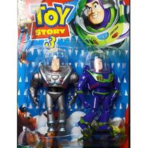 Buzz Lightyear Toy Story 3 Version Azul Plata Articulado
